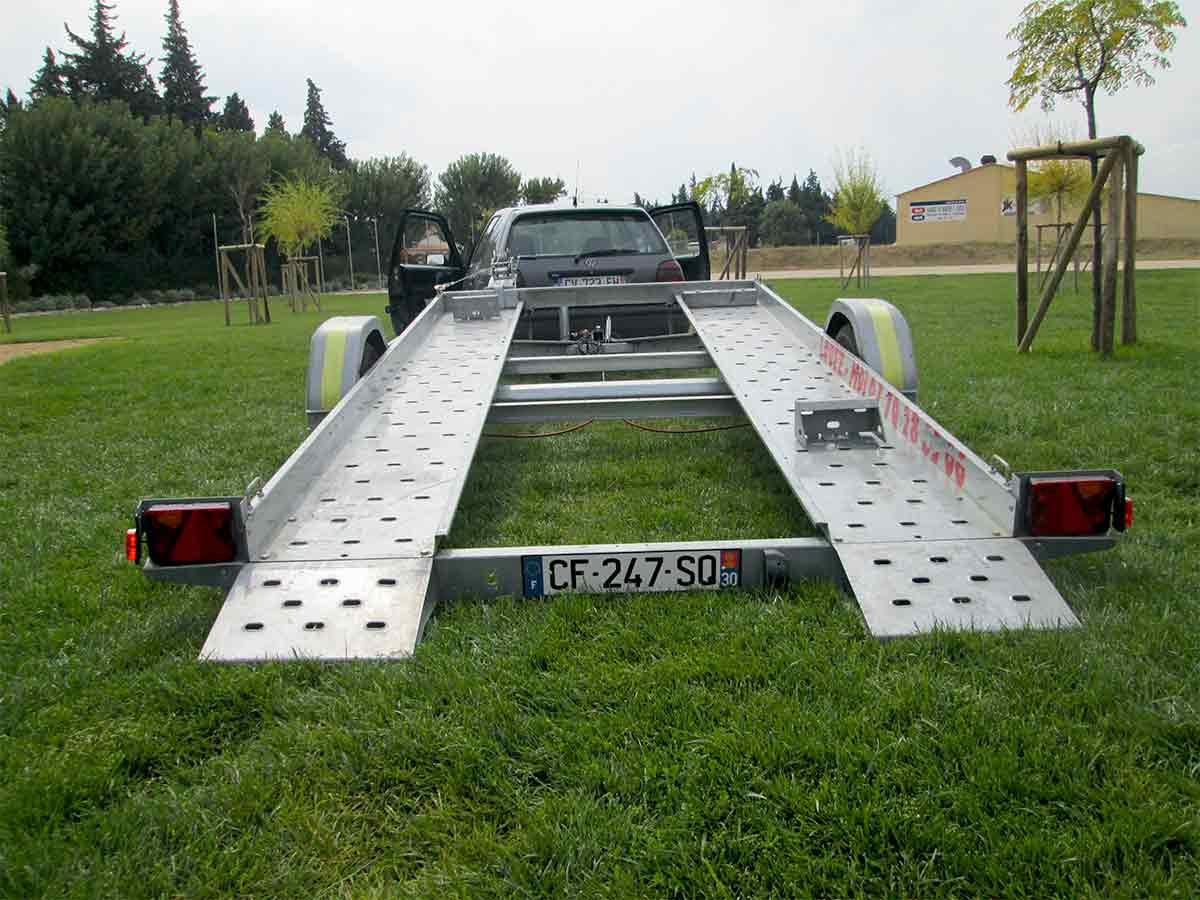 FM LOCATION REMORQUE : Remorque porte voiture 1300kg